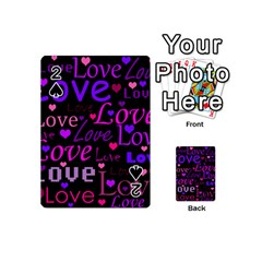 Love pattern 2 Playing Cards 54 (Mini)