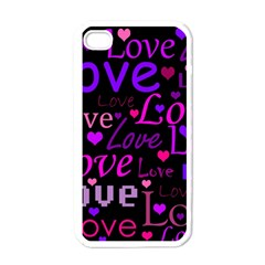 Love pattern 2 Apple iPhone 4 Case (White)