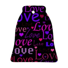 Love pattern 2 Bell Ornament (2 Sides)
