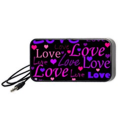 Love pattern 2 Portable Speaker (Black)