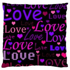 Love pattern 2 Large Cushion Case (Two Sides)