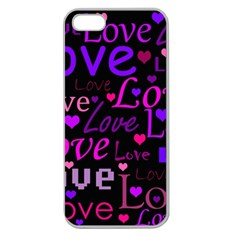 Love pattern 2 Apple Seamless iPhone 5 Case (Clear)