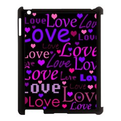 Love pattern 2 Apple iPad 3/4 Case (Black)