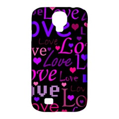 Love pattern 2 Samsung Galaxy S4 Classic Hardshell Case (PC+Silicone)