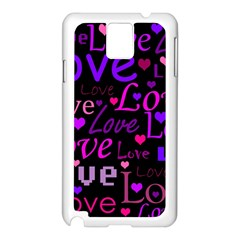 Love pattern 2 Samsung Galaxy Note 3 N9005 Case (White)