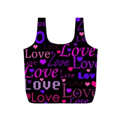 Love pattern 2 Full Print Recycle Bags (S)