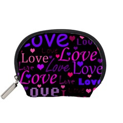 Love pattern 2 Accessory Pouches (Small)