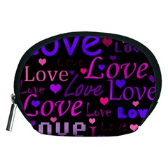 Love pattern 2 Accessory Pouches (Medium)