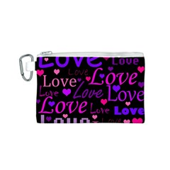 Love pattern 2 Canvas Cosmetic Bag (S)