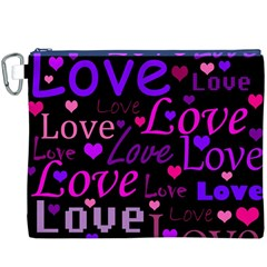 Love pattern 2 Canvas Cosmetic Bag (XXXL)