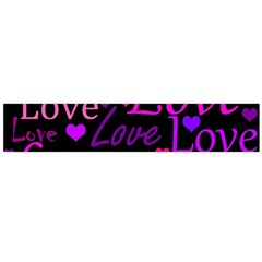 Love pattern 2 Flano Scarf (Large)