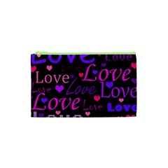 Love pattern 2 Cosmetic Bag (XS)