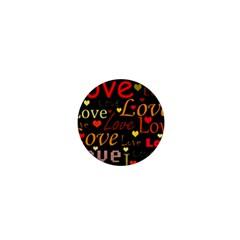 Love pattern 3 1  Mini Magnets
