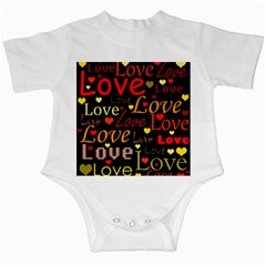 Love pattern 3 Infant Creepers