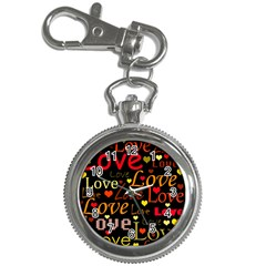 Love pattern 3 Key Chain Watches