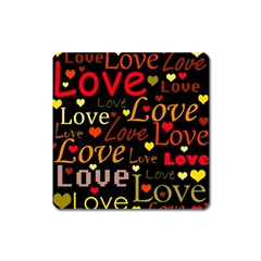 Love pattern 3 Square Magnet