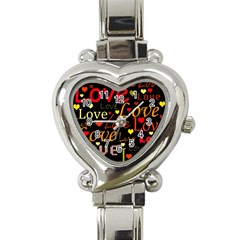 Love pattern 3 Heart Italian Charm Watch