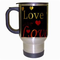 Love pattern 3 Travel Mug (Silver Gray)