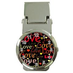 Love pattern 3 Money Clip Watches