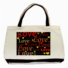 Love pattern 3 Basic Tote Bag