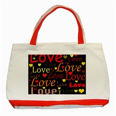 Love pattern 3 Classic Tote Bag (Red)