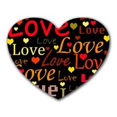 Love pattern 3 Heart Mousepads