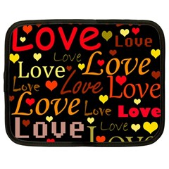 Love pattern 3 Netbook Case (Large)