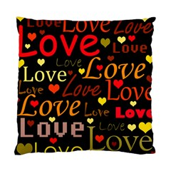Love pattern 3 Standard Cushion Case (Two Sides)