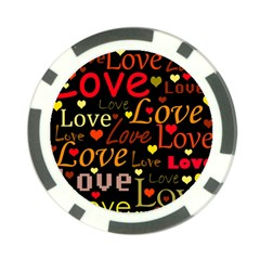Love pattern 3 Poker Chip Card Guards (10 pack)