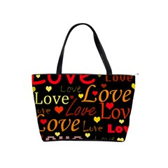 Love pattern 3 Shoulder Handbags