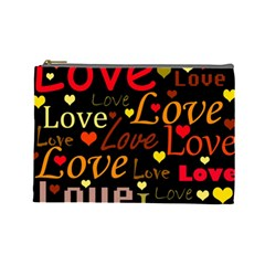 Love pattern 3 Cosmetic Bag (Large)