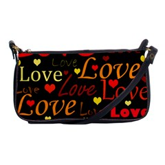 Love pattern 3 Shoulder Clutch Bags