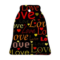 Love pattern 3 Bell Ornament (2 Sides)