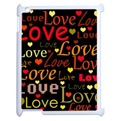 Love pattern 3 Apple iPad 2 Case (White)