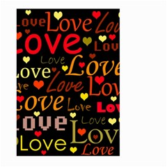 Love pattern 3 Large Garden Flag (Two Sides)