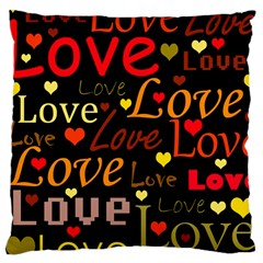 Love pattern 3 Large Cushion Case (Two Sides)
