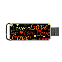 Love pattern 3 Portable USB Flash (Two Sides)