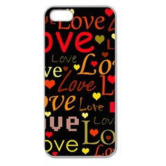Love pattern 3 Apple Seamless iPhone 5 Case (Clear)