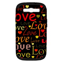 Love pattern 3 Samsung Galaxy S III Hardshell Case (PC+Silicone)