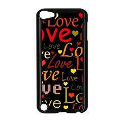 Love pattern 3 Apple iPod Touch 5 Case (Black)