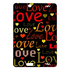 Love pattern 3 Amazon Kindle Fire HD (2013) Hardshell Case