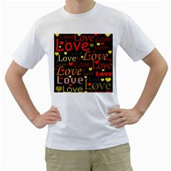 Love pattern 3 Men s T-Shirt (White)