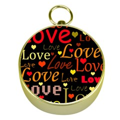 Love pattern 3 Gold Compasses
