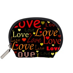 Love pattern 3 Accessory Pouches (Small)