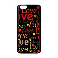 Love pattern 3 Apple iPhone 6/6S Black Enamel Case