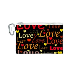 Love pattern 3 Canvas Cosmetic Bag (S)