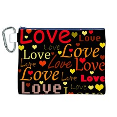 Love pattern 3 Canvas Cosmetic Bag (XL)