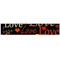 Love pattern 3 Flano Scarf (Large)