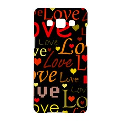 Love pattern 3 Samsung Galaxy A5 Hardshell Case