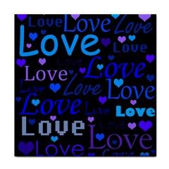 Blue love pattern Tile Coasters
